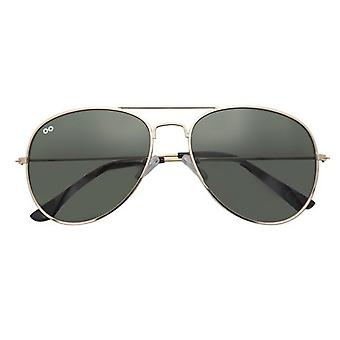 Sunglasses Unisex Scott pilot polycarbonate gold/green