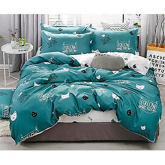 Simple Bedding With Pillow Case Duvet Cover - Double Queen King Size Quilt Covers Bedcloths