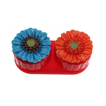 Lens box Unisex with flowers red