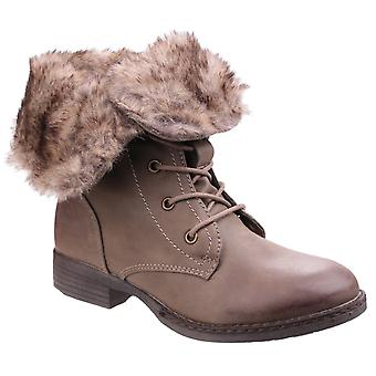 Divaz women's leigh lace up ankle boot brown 24269-40014
