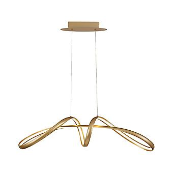 Luminosa Lighting - Large Oval Ceiling Hanger, 1 x 39W LED, 3000K, 1950lm, Sand Gold