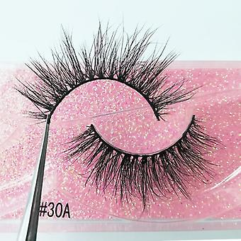 Ysdo 1 Pair 3d Mink Eyelashes Fluffy Dramatic Eyelashes Makeup Wispy Mink