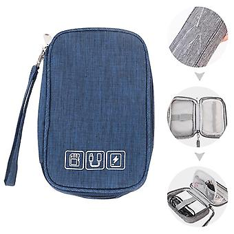 Portable Electronic, Wires, Charger, Digital Usb Gadget Cable Storage Zipper