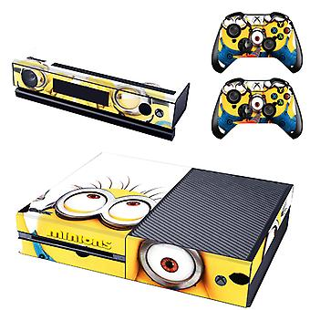 REYTID Console Skin / Sticker + 2 x Controller Decals & Kinect Wrap Compatible with Microsoft Xbox One - Full Set - Minions