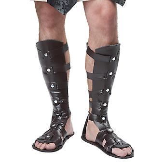 Mens Gladiator Roman Greek Sandals Fancy Dress Costume Accessory