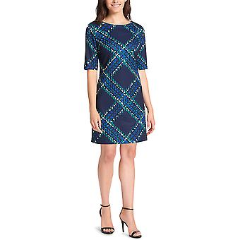 ג'סיקה הווארד | שמלת נדן מודפסת עם שרוול מרפק