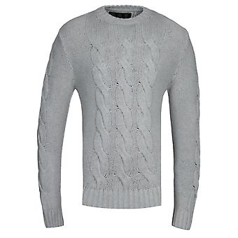 Sweat-shirt barbour Gold Standard Lennox Grey Cable Knit