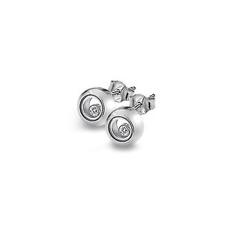 Anais diamantes calientes Anais plata círculo círculo pendientes AE015