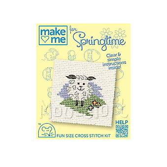 Spring Lamb - Make Me for Easter Small Counted Cross Stitch Kit