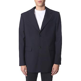 Raf Simons 1925312501000044 Blazer en polyester bleu homme