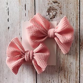 Girls Hair Pin Bow Clips -headwear Ribbon Bowknot Barrettes