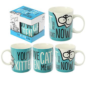 Collectable Porcelain Mug - Simon's Cat Kitten Slogan X 1 Pack