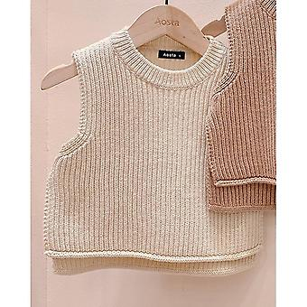 Baby Sweaters Solid Sleeveless Pullover Vest Knit Kids Toddler Autumn Outerwear