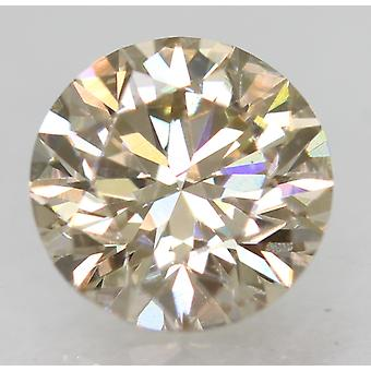 Cert 0.71 Carat Top Brun clair VVS2 Round Brilliant Natural Diamond 5.63mm 3EX
