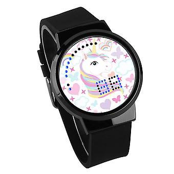 Impermeable Luminoso LED Digital Touch Reloj - Licorne #8