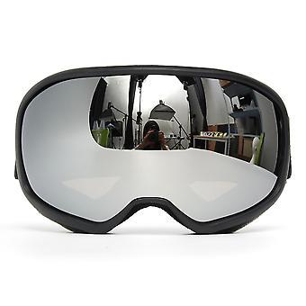 Snowmobile التزلج نظارات مزدوجة عدسة مكافحة الضباب فوق البنفسجية سنو سنو الرياضة السوداء