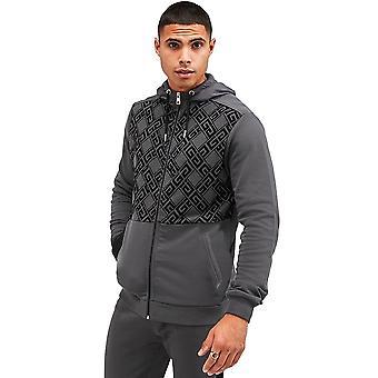 Glorious Gangsta   Dantos 2781 Asphalt Zip Through Hood Top - Grey
