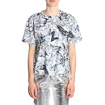 Mm6 Maison Margiela S62gd0001s23348001s Women's Silver Cotton T-shirt