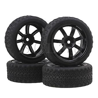 4 x RC 1:10 On-road Racing Car Wheel Rim& High Grip Tires Tyre Joints