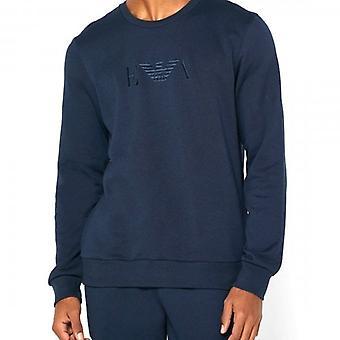 Emporio أرماني الملابس الداخلية البحرية طاقم الرقبة سترة 1111785 0A571