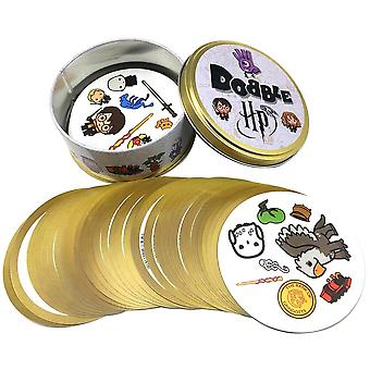 Dobble Card Game Spot Toy Iron Box, Kids Games Board Animals Alphabet123