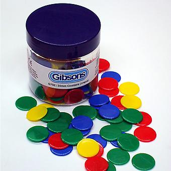 Gibsons 22mm Counters (Assorted 144)