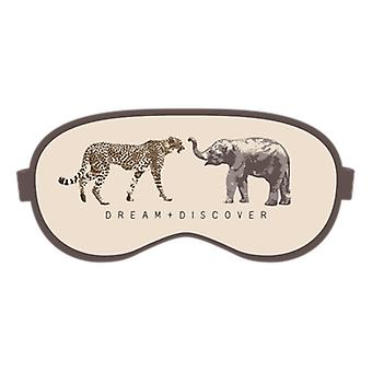 Dream & Discover Safari Design Eye Mask & Ear Plugs Set