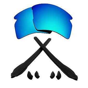 Ersättare linser & kit för Oakley flak 2,0 XL blå spegel & svart Anti-Scratch anti-bländning UV400 av SeekOptics