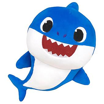 Baby Shark Blue Stuffed Toy With Sound Stuffed Toych Blue 28cm