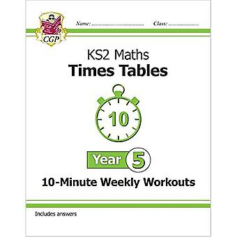 Novo KS2 Math: Times tabelas 10 minutos treinos semanais-ano 5