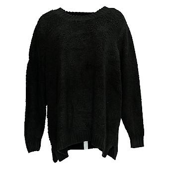 LOGO By Lori Goldstein Women's Sweater Long Sleeve Ribbed Black A385274