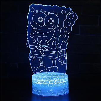3D Touch Light Night 7 colors with remote control - SpongeBob #602