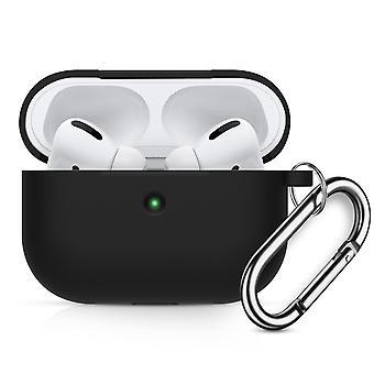 Fall Weiche Silikontasche mit Karabiner für Apple AirPods Pro schwarz