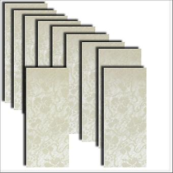 10 Ivory Broderie Card Insert DL Size 1 (Large)