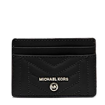 MICHAEL Michael Kors Quilted Leather Card Holder Noir