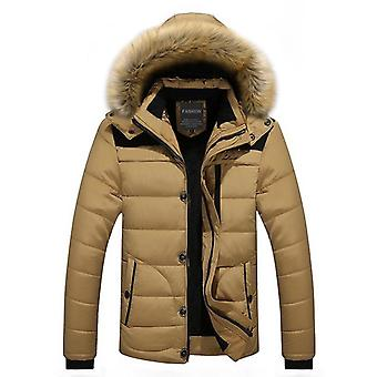 Fur Collar Hooded Men Winter Coat Snow Parka Down Jacket