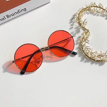Fashion Retro Sunglasses Colorful Mirror Metal Frame Kids Cute Simple Outdoor