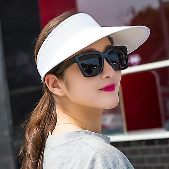 Top Sun Visor Hat/summer Linen Big Wide Brim Straw Sun Caps Uv Protection Hat