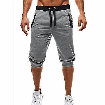 الصيف طول الركبة شورتات اللون الترقيع الركض Sweatpants السراويل