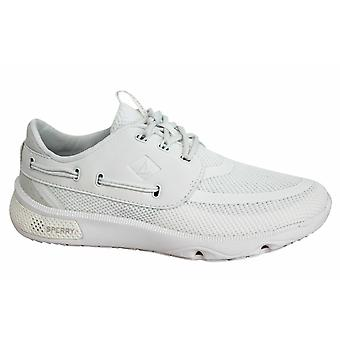 Sperry 7 Seas Lace Up White Mesh Textile Mens Trainers STS15528 B5C