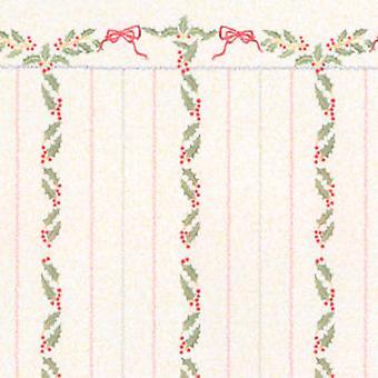 מנגינה ג'יין בובות בית מיניאטורי הדפסה חג המולד הולי פירות יער פס טפט