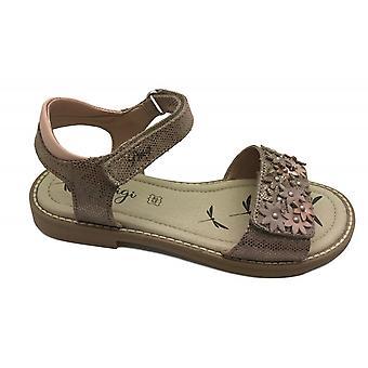 PRIMIGI Leather Open Toe Sandal Rose Gold