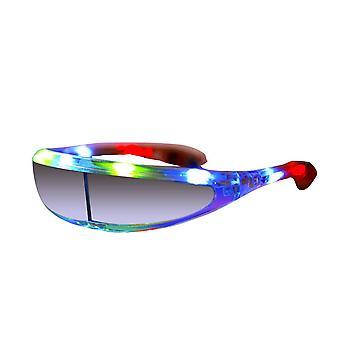 Lunettes de fête dirigées. clignotant, clignotant, lunettes led drôles, lumières, tenue, accessoires de costume (batma