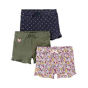 Simple Joys de Carterăs Baby Girlsă Toddler 3-Pack Knit Shorts, Pink.Gray, Na...