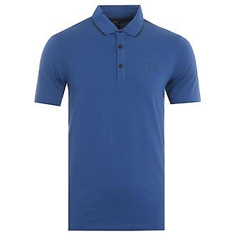 Armani Exchange Tipped Jersey Polo Shirt - Cobalt Blue