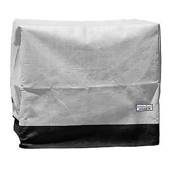 """Outdoor Air Conditioner Cover for Outside Units - 34""""W x 34""""D x 30""""H - Breathable Material, UV Protected, and Weather Resistant Storage Cover - Gray with Black Hem"""