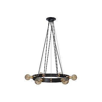Margaret 6-light Led Pendant Lamp Black