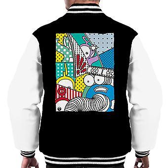 Teletubbies And Noo Noo Men's Varsity Jacket