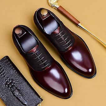 Leather Brogue Wedding Business Men's Casual Flats Shoes