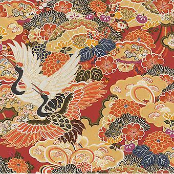 Orientalny kwiat czerwony pomarańczowy tapety